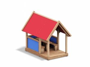 Domečky, pískoviště, tabule