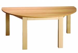 Stůl půlkulatý