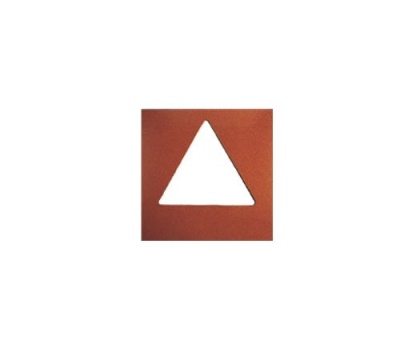 Trojúhelník - Šablona k pískovničce