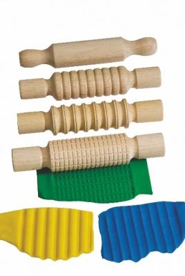 Válečky dřevěné, sada 4 kusů