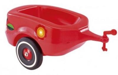 Vozík k odrážedlům červený