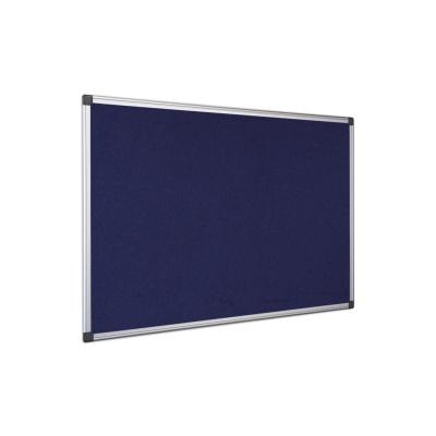 Textilní filcová tabule, 900x600, ALU rám, modrá