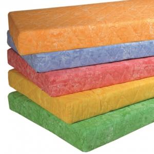 Matrace oranžová se vzorem, zip