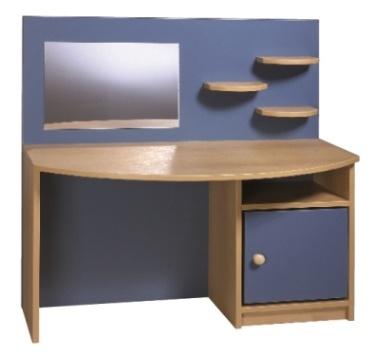 Kadeřnický stolek Marie přírodní