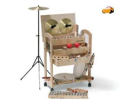 Sada hudebních nástrojů s vozíkem
