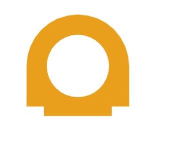 Bambino - Aplikace půlkruh s kruhovým výřezem přirod. (s.699996)