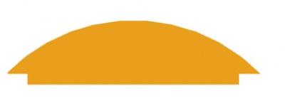 Bambino - Aplikace půlkruh podélný přírod. (s.010024)