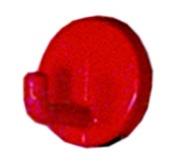 Háček kovový červený komaxit