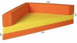 Molitanová sedačka oranžová bez vzoru