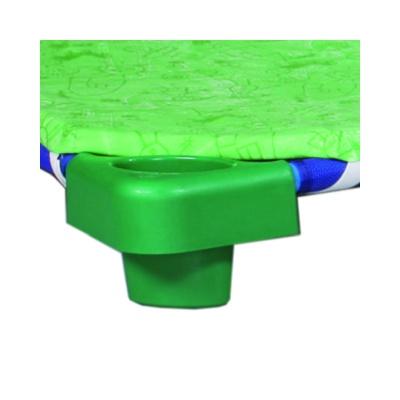 Tenká matrace na plastové lehátko bez vzoru zelená se zipem