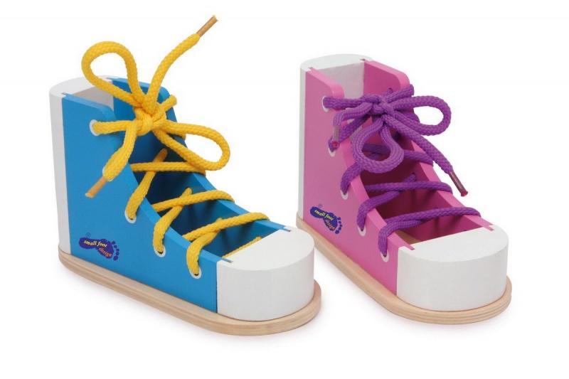 Barevné provlékací boty-2 ks