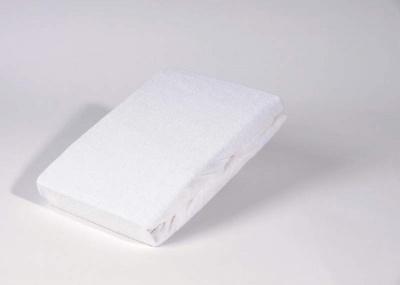 Nepropustné prostěradlo 135x60 cm na plastové lehátko, zkosené rohy, guma v rozích, bílé
