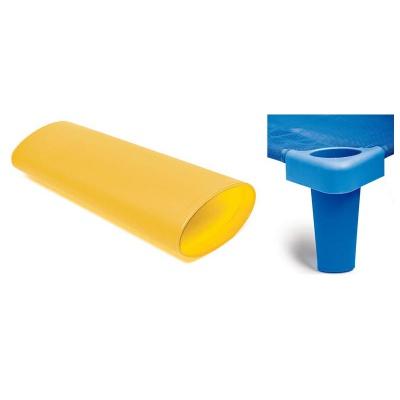 Nástavné nohy na plast. lehátko žluté (4 ks)