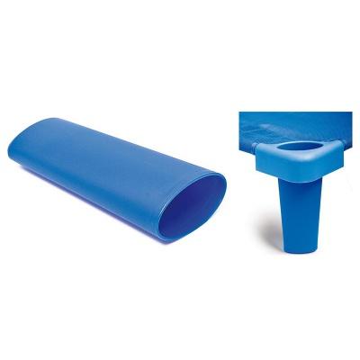Nástavné nohy na lehátko plastové modré 133 cm (4 ks)