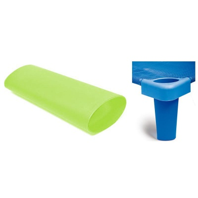 Nástavné nohy na lehátko plastové zelené 133 cm (4 ks)