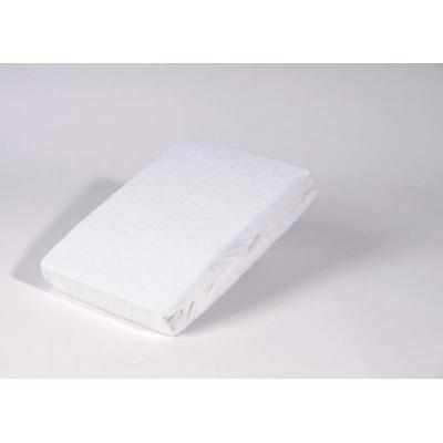 Bavlněné prostěradlo k matraci dřevěného lehátka, guma po obvodu, bílé