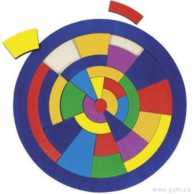 Kulaté puzzle nadesce – Barvy, 29dílů