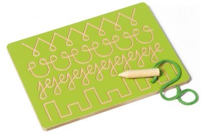 Tabulka na grafomotoriku zelená