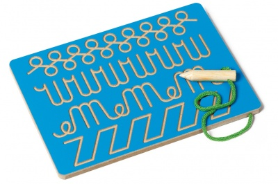 Tabulka na grafomotoriku modrá
