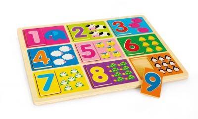 Skládanka učení čísel