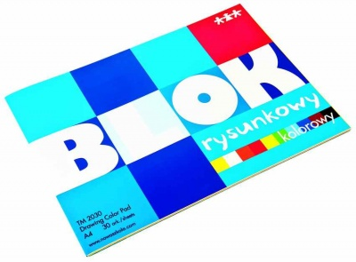 Blok-barevný papír A4 standard (90-100g/m2), 30 ks