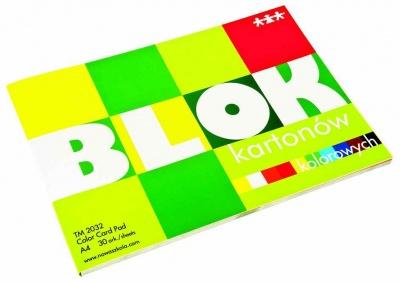 Blok-barevný papír A4 tvrdší (190-200g/m2), 30 ks