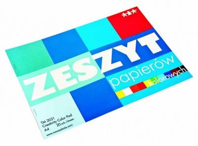 Blok-barevný papír A4 lesklý, 20 ks