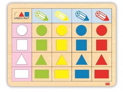 Logická hra - geometrické tvary 1