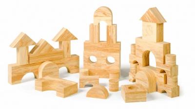 Pěnové kostky - dřevěný dezén