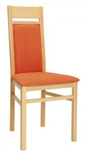 Učitelská židle buková Timo celočalouněná, tmavě hnědá