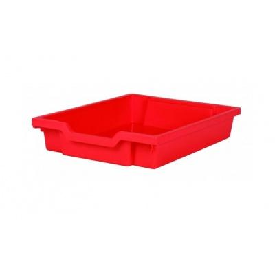 Malý kastlík z um. hmoty červený
