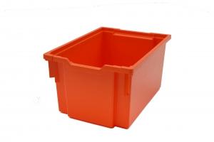 Jumbo kastlík z umělé hmoty hloubka 450 mm, oranžový