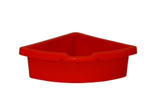 kastlík do rohu plast červený
