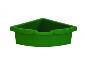 kastlík do rohu plast zelený