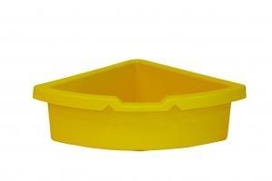 kastlík do rohu plast žlutý