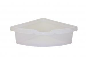 kastlík do rohu plast transparentní