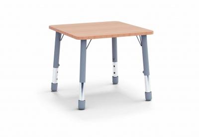 Stůl čtverec 80 x 80 / v. 46 - 59 cm