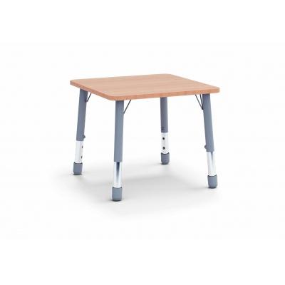 Stůl čtverec 80 x 80 / v. 59 - 71 cm