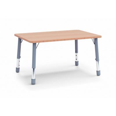 Stůl obdélník 120 x 80 / v. 59 - 71 cm