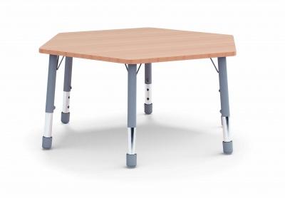 Stůl šestiúhelník  průmě 117 / v. 59 - 71 cm