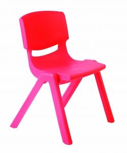 Plastová židle, v.35 cm, červená