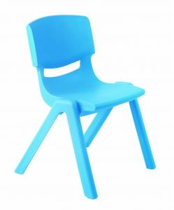 Plastová židle, v.38 cm,  modrá