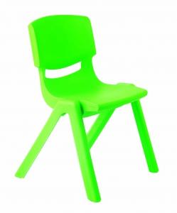 Plastová židle, v.38 cm, zelená