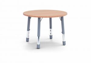 Stůl kulatý průměr 100, 4 nohy / v. 59 - 71 cm