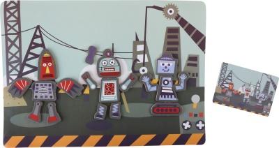 Magnetické puzzle robot