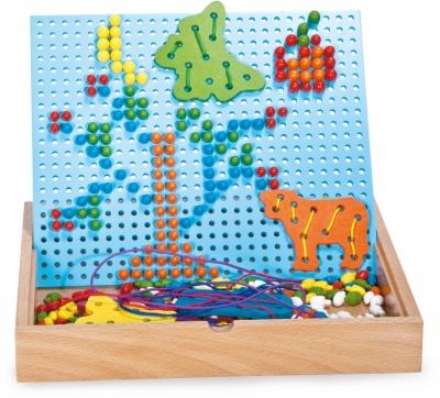 Hříbečková mozaika s vyšíváním