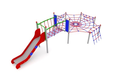 Pavoučí síť se skluzavkou