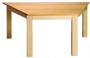 Stůl lichoběžník 120x60/52 přírodní
