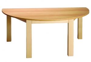 Stůl půlkulatý 120x60/64 přírodní