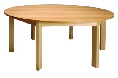 Stůl kulatý průměr 120/64 přírodní